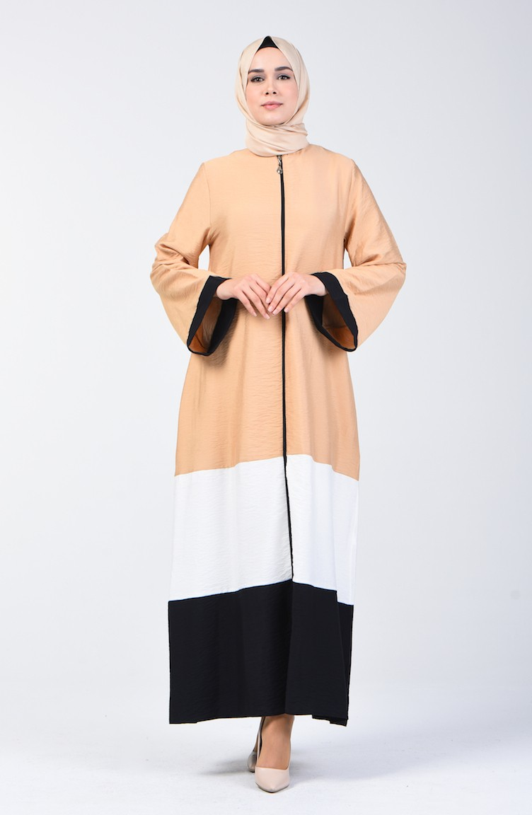 Abaya With Wide Sleeves - Colorful