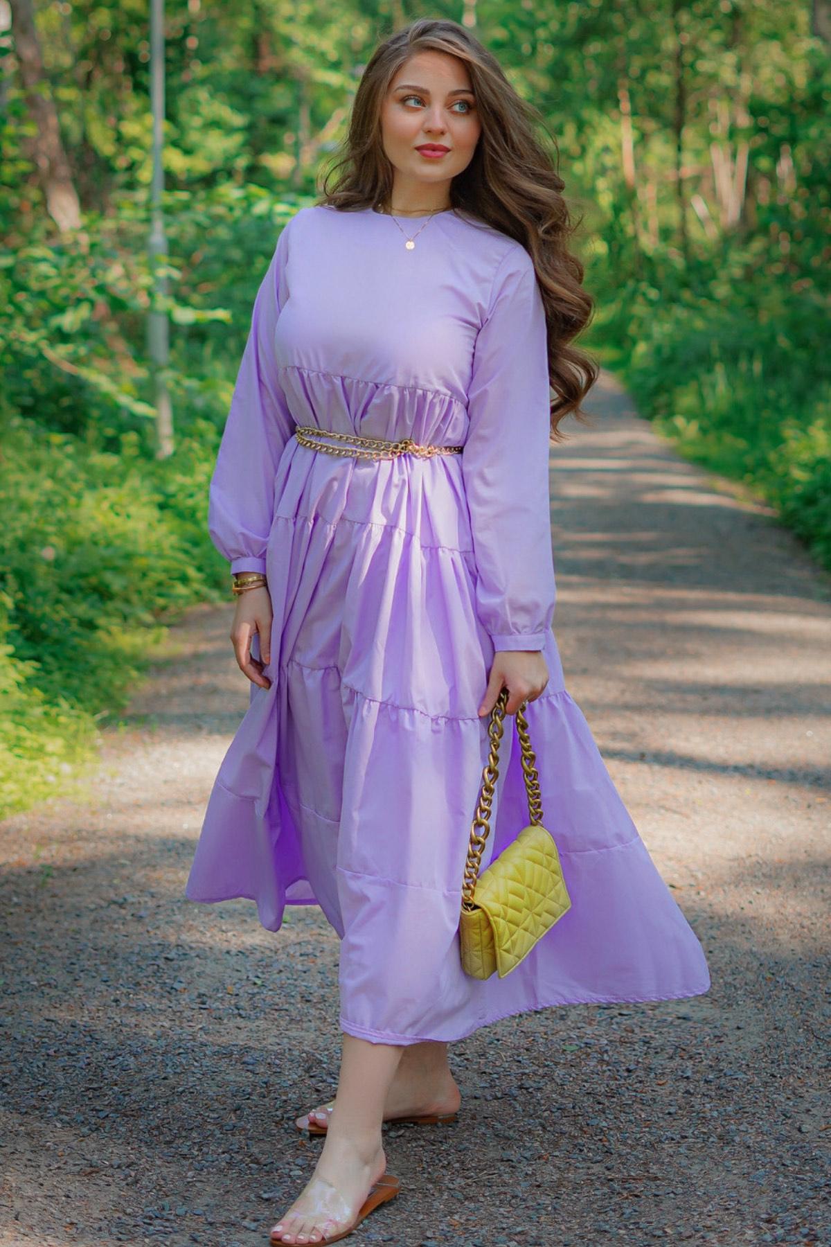 فستان ميلا طرطي بنفسجي