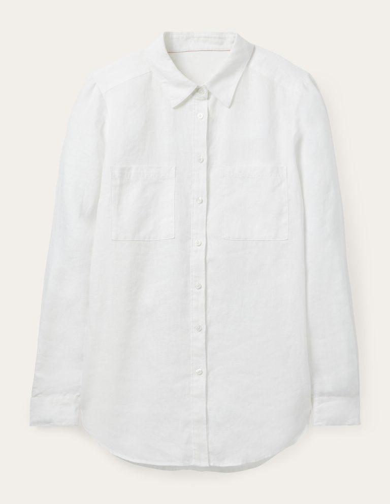 تنسيق القميص الأبيض
