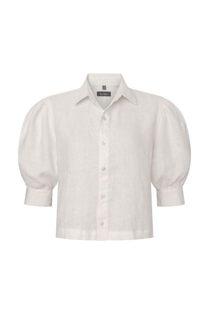 قميص ذو أكمام منفوخة