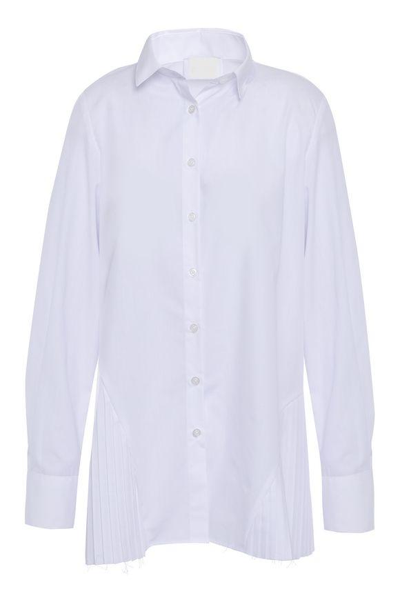 قميص طويل ذو طيات