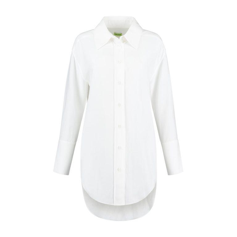 قميص طويل أبيض