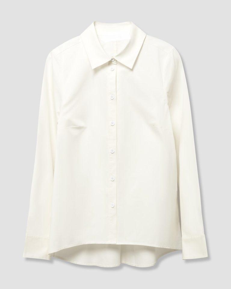 قميص أبيض ضفاض
