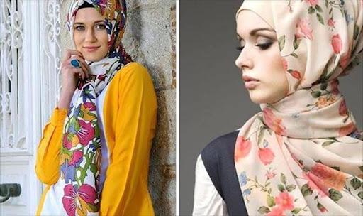 تنسيق لون الحجاب مع الملابس